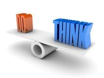 Tun Sie und denken Sie Balance. Stockfotos