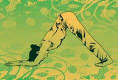 Tun Sie Yoga, um Ihren Karosserien-Pass-Sitz zu halten Stockbilder