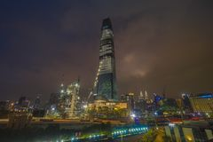 Tun TRX ανταλλαγή ή ανταλλαγή 106 Razak πύργος στοκ φωτογραφία