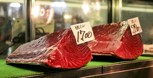 Tuna. Fresh Tuna at the Tokyo Fish Market Stock Photos