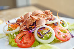 Tuna And Vegetable Salad Stock Photos