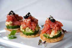 Tuna appetizer Royalty Free Stock Image