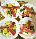 Tuna Appetizer Plates scottata Immagini Stock