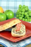 Tuna artichoke and olives sandwich Stock Images