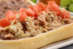 Tuna and artichoke sandwich Stock Image