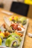 Tuna Avocado Sushi Maki Royalty Free Stock Photography