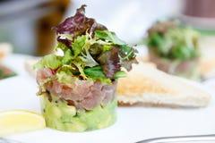 Tuna and avocado tartar. Royalty Free Stock Photo