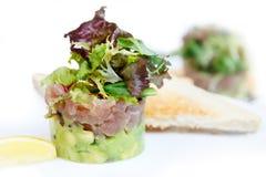 Tuna and avocado tartar. Stock Photos