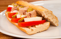 Tuna baguette Royalty Free Stock Photography