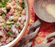 Tuna and bean salad Royalty Free Stock Photos