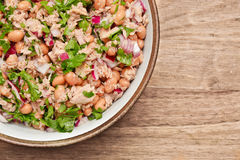 Tuna and bean salad Stock Photos