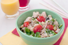 Tuna, beans, cherry tomatoes salad Stock Photography