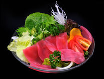 Tuna (Bluefin) and vegetables salad Stock Photo