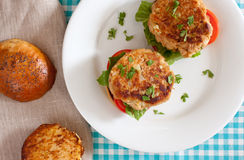 Tuna burger Royalty Free Stock Photography