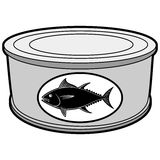 Tuna Can Illustration. A vector illustration of a Tuna Can Stock Image