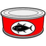 Tuna Can. A vector illustration of a Tuna Can Royalty Free Stock Photo