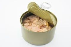 Tuna Canned mat Fotografering för Bildbyråer