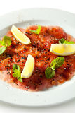 Tuna Carpaccio Royalty Free Stock Photography