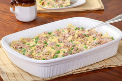 Tuna Casserole. Meal in a serving dish Stock Images
