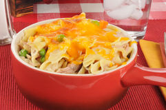 Tuna casserole with cheese Royalty Free Stock Images