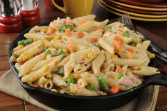 Tuna casserole in a skillet Royalty Free Stock Photo
