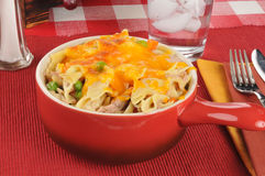 Tuna casserole in a stoneware crock Stock Images