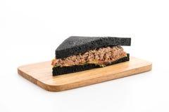 Tuna charcoal  sandwich Stock Photos