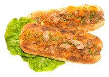 Tuna And Cheese Toasted Sandwich imágenes de archivo libres de regalías