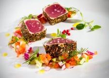 Tuna Chunks Stock Image