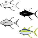 Tuna. Clip art illustration of tuna fish and line art Royalty Free Stock Photos