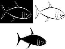 Tuna. Clip art illustration and line art Stock Image