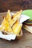 Tuna, corn and cauliflower triangles Stock Images