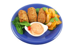 Tuna Croquettes Royalty Free Stock Images