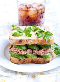 Tuna and cucumber sandwich Royalty Free Stock Photos