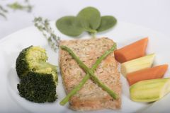 Tuna dish with carrot Royalty Free Stock Photography
