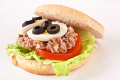 Tuna and egg sandwich Stock Photography