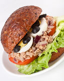 Tuna and egg sandwich Royalty Free Stock Photo
