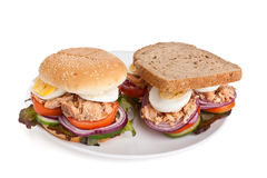 Tuna and Egg Sandwiches Royalty Free Stock Images