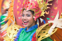 Tuna Festival in General Santos City, The Philippines. General Santos City, The Philippines - September 6, 2015: Participant at the final street parade during royalty free stock photography