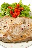 Tuna filet with salad Stock Photos