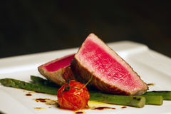 Tuna fillet elegant dish Stock Photo