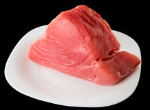 Tuna fillet on plate,  Royalty Free Stock Photo