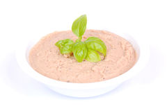 Tuna fish dip on white Stock Photos