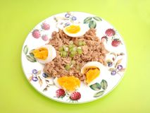 Tuna fish with eggs Royalty Free Stock Image