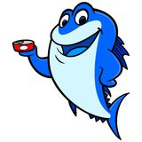 Tuna Fish holding a Can. A vector illustration of a Tuna Fish holding a Can Royalty Free Stock Photography