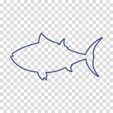 Tuna fish linear vector icon. Web isolated Stock Photos