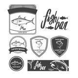 Tuna. Fish logo template, simple illustration, fishing concept, tuna, design elements, label Royalty Free Stock Image
