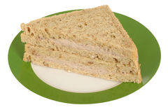 Tuna Fish and Mayo Sandwich on a plate Royalty Free Stock Photo
