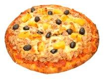 Tuna Fish And Pineapple Pizza imágenes de archivo libres de regalías