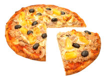 Tuna Fish And Pineapple Pizza Immagine Stock